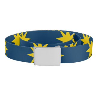 Gold Star with Navy Background Belt