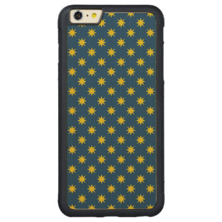 Gold Star with Navy Background Carved Maple iPhone 6 Plus Bumper Case