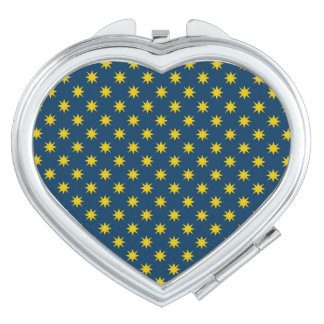 Gold Star with Navy Background Compact Mirror