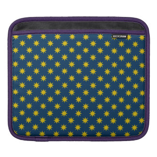 Gold Star with Navy Background iPad Sleeve