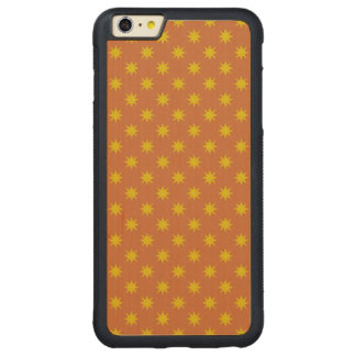 Gold Star with Orange Background Carved Maple iPhone 6 Plus Bumper Case