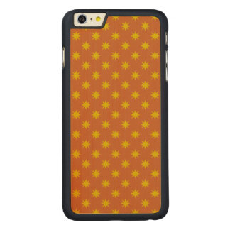 Gold Star with Orange Background Carved® Maple iPhone 6 Plus Case