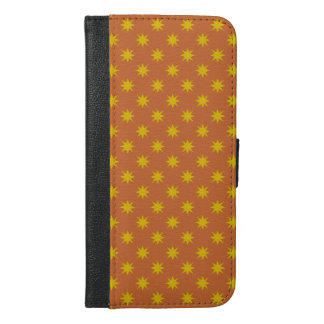 Gold Star with Orange Background iPhone 6/6s Plus Wallet Case