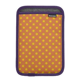 Gold Star with Orange Background Sleeve For iPad Mini