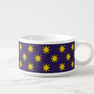 Gold Star with Royal Purple Background Bowl