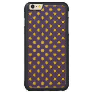 Gold Star with Royal Purple Background Carved® Maple iPhone 6 Plus Bumper Case