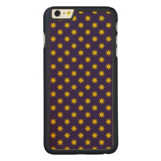Gold Star with Royal Purple Background Carved Maple iPhone 6 Plus Case