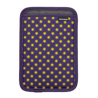 Gold Star with Royal Purple Background iPad Mini Sleeves