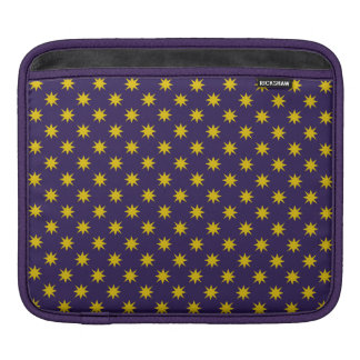 Gold Star with Royal Purple Background iPad Sleeve