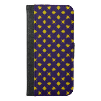 Gold Star with Royal Purple Background iPhone 6/6s Plus Wallet Case