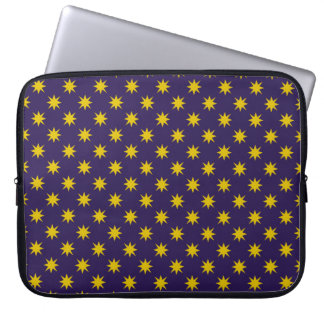 Gold Star with Royal Purple Background Laptop Sleeve