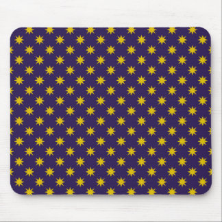 Gold Star with Royal Purple Background Mouse Pad