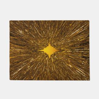 Gold starburst doormat