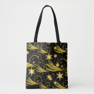 Gold Stars and Comets Lord Byron Quote Tote Bag