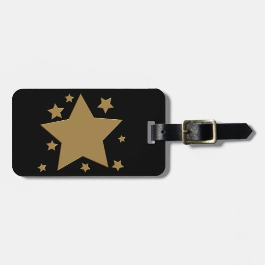 Gold Stars Bag Tag