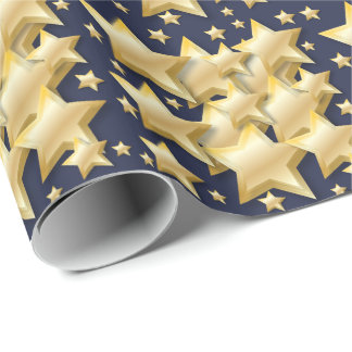 Gold Stars Clusters | Wrapping Paper