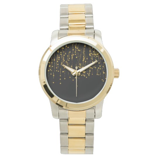 Gold Stars - Custom oversize two-tone bracelet Watch