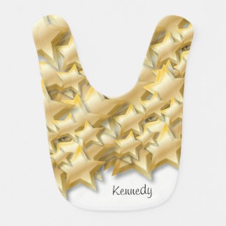 Gold stars design | Baby Bib