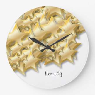 Gold stars design | Wall Clock