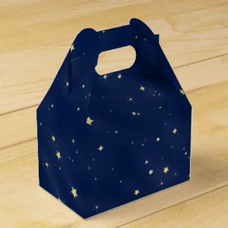 Gold Stars Favor Box