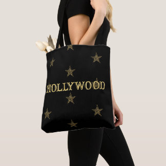 Gold Stars Hollywood Star Tote Bag