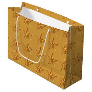 Gold Stars LGB Large Gift Bag
