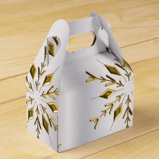 Gold Stars on Silver Favor Box