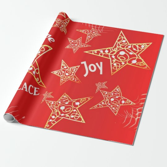 Gold Stars Photo Gloss Wrapping Paper