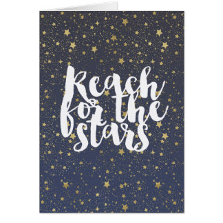 Gold Stars Reach for the Stars Card