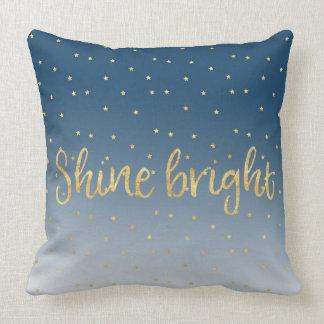 Gold Stars Sky Shine Bright Throw Pillow