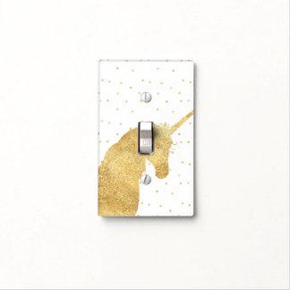 Gold Stars Unicorn Light Switch Cover