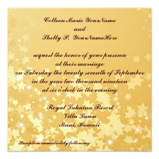 Gold Stars Wedding Celebration Card