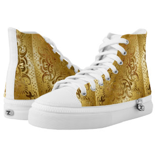 Gold  Stencil rubber soled sneakers