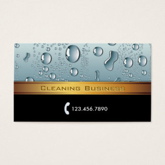 Gold Stripe Cleaning Service Business Card