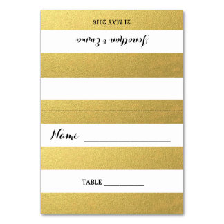 Gold Stripe Escort Cards