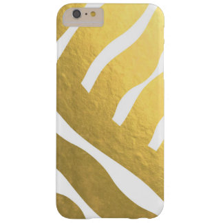 Gold Striped Pattern Barely There Phone 6 Case
