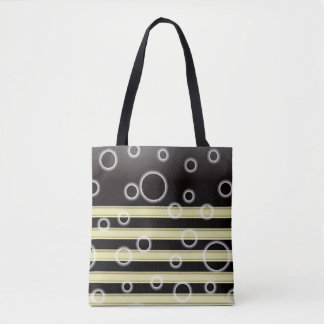 Gold stripes and bubbles All-Over-Print Tote Bag