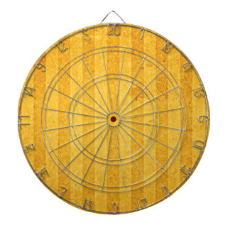 Gold Stripes Dartboard With Darts