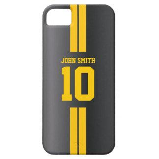 Gold Stripes Soccer Jersey Dark iPhone 5 Case