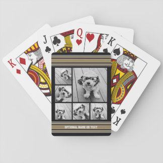 Gold Stripes Sports Jersey Photos - CAN EDIT COLOR Playing Cards