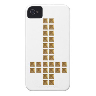 Gold Studded Inverted Cross iPhone 4 Case-Mate Cases