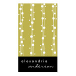 Gold Stylish Dots and Straw Business Cards