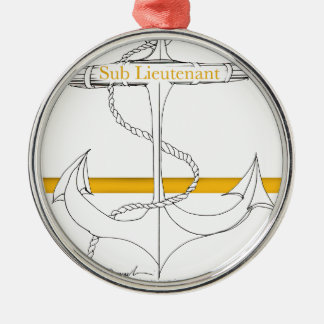 gold sub lieutenant, tony fernandes metal ornament