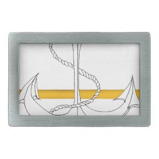 gold sub lieutenant, tony fernandes rectangular belt buckle