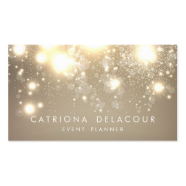Wedding event planner business cards the graphic market the gold subtle glitter bokeh business card colourmoves