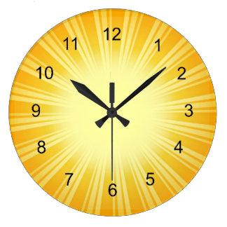 Gold Sunburst Design Wall Clock