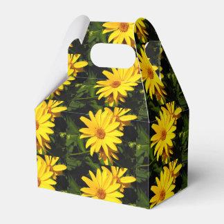 Gold Sunflower Favor Box