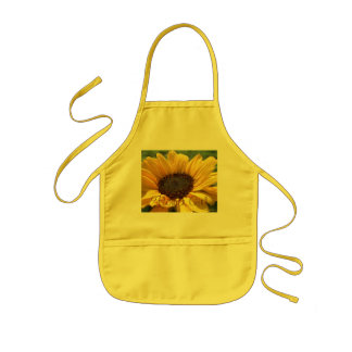 "Gold Sunflower ""Flower Girl"" Kids Apron"