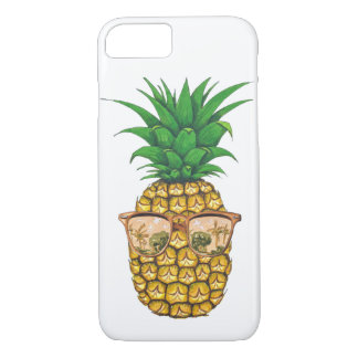 Gold Sunglasses Pineapple | Fruit Illustration iPhone 8/7 Case