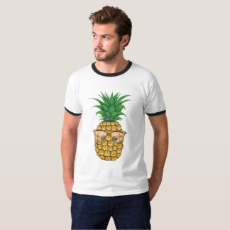 Gold Sunglasses Pineapple | Fruit Illustration T-Shirt